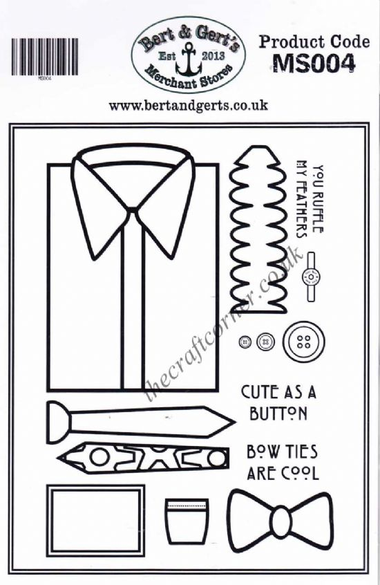 Build A Shirt 14 Uncut & Unmounted Rubber Stamp Set